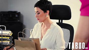 Manipulative Boss Olive Glass Demands That Personal Assistant Rebecca Vanguard Fuck Boss Husband