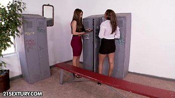 Friends fuck in locker rooms Locker room surprise - part 1
