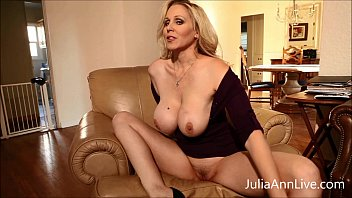Busty Blonde Milf Julia Ann Fingers her Pussy!