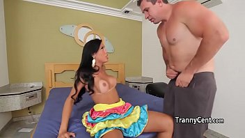 Body suit transsexual Mindblowing shemale beauty fucks dude