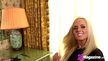 Smokey Eyed Busty Brittany Gets Nude In Front Of Mirror!