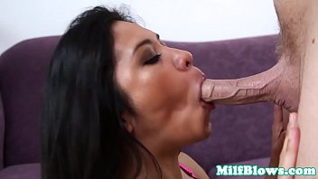 Cocksucking asian mom tittyfucked