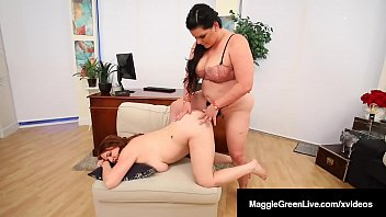 StrapOn Sisters, Maggie Green & Angelina Castro Cum Fucking!