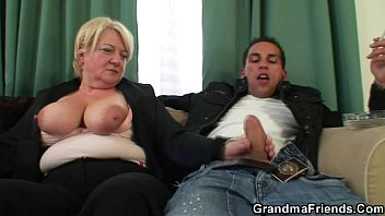 Doing mature - Two guys doing boozed granny