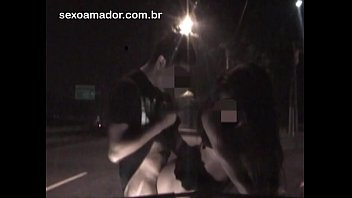 Exhibitionist video shows couple fucking on avenue of Sao Paulo - Brazil