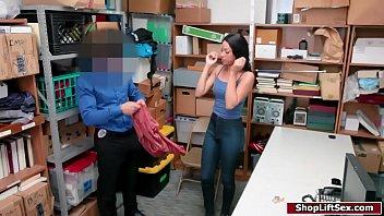 LP officer fucks sneaky ebony shoplifter
