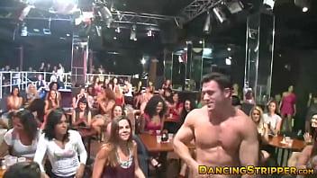 Curvy ebony sucking and fucking at the strip club