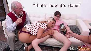 Mom having sex with daughter pictures - Filthy family - everyone joins this twisted orgy, including grandpa
