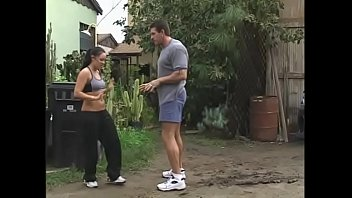 After the kickboxer beauty with raven hair Judy Star and overstuffed musclehead had bumped into each other and she found out loss of her money she accepted outdoor sex as his apology