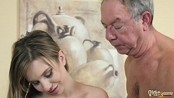 Mistress hides in the closet then joins in for hardcore threesome fuck with her bff and old guy that gets the best sex he ever had with 2 young tarts ready to blow his cock and swallow his cum