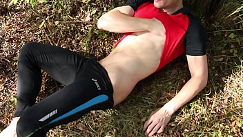Front runners gay nyc Naked sexy runner masturbates hard causing his thick cock cumming