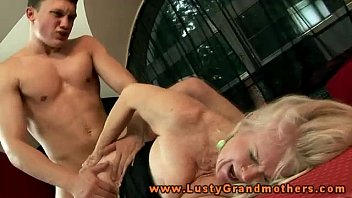 Hot horny blonde granny nailed hard