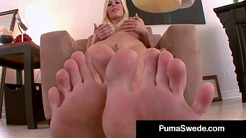 Busty Euro Babe Puma Swede Shows Off Her Hose, Feet & Legs!