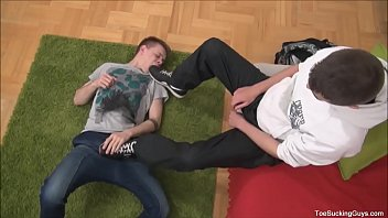 Two Horny Twinks Foot Worship