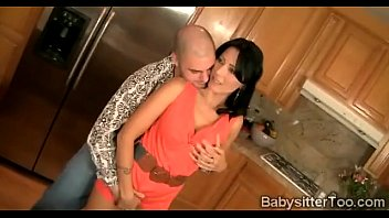 Cougar convinces her young babysitter boobs blonde wife
