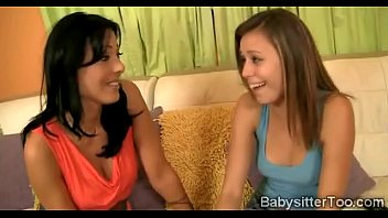 Cougar convinces her young babysitter