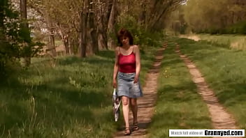 Mature Bessie Fucked Well In The Forest