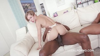 Big butt DAP slut Sasha Zima takes big black monster cocks up her asshole