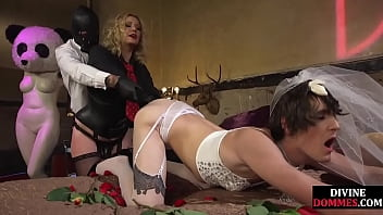 Sissification Training With Paddle And Fist Given By Ladyboss Domina In Trio