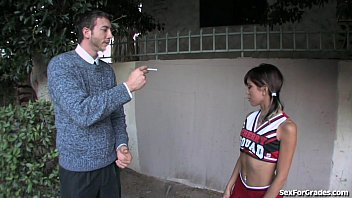 Student fucks teacher hard - Tight cheerleader fucked hard by her teacher