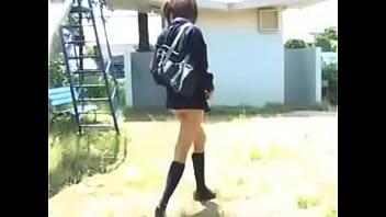 Teen showing ass and legs