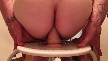 bouncing  ass on dildo anal