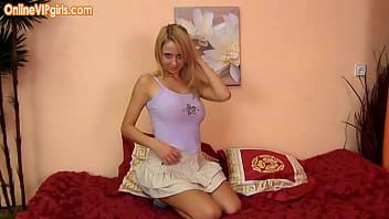 Blonde petite babe needs a hand