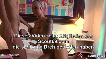 Öliger Fick von deutscher Teen Hure Anni Angel mit Jungspund - German Prostitute