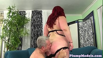 Redhead fatty doggystyled by hard dick