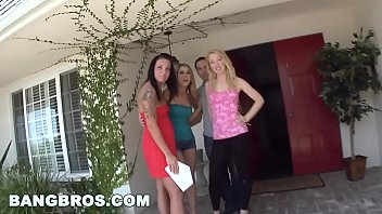 BANGBROS - Amber Ashlee, Aria Aspen, and Nicki Blue on Fuck Team 5!