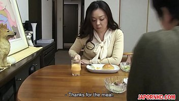 JAV Uncensored with english subtitle: Mom gives son blowjob before leaving thumbnail