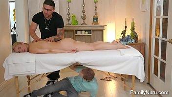 Luck skinny dude massage super hot woman