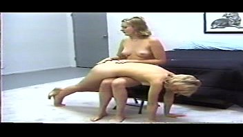 Spank bottom tube - Nwv-305 - two very red bottoms