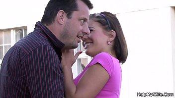 Stranger screws his cute wife from behind