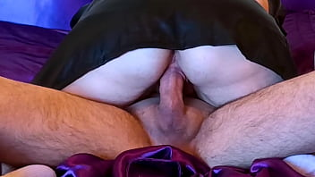 Satin sheets, satin lingerie and creampie...ENJOY MY WIFE!