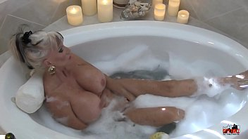 Bubble bath sex Hot milf in bubble bath - sally dangelo