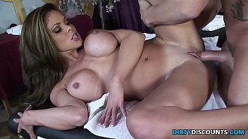 Squirting milf drilled on the massage table thumbnail