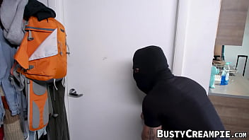 Busty lady Violet Myers bound and fucked by stalker