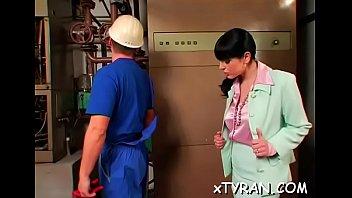 Vigorous maid Tina Gabriel cuch pounding
