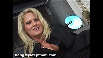 Bridgett lee mature Blonde milf rides her stepsons big cock
