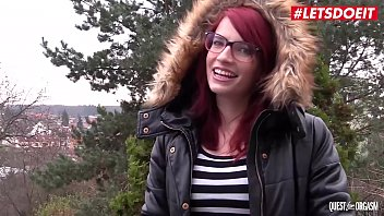LETSDOEIT - Kinky Redhead Leila Smith Plays With her Toys