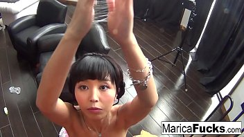 Hottie Marica Hase records herself masturbating