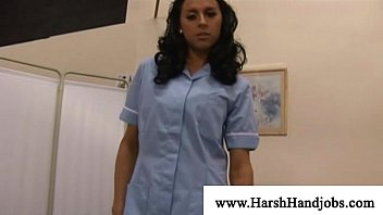 Sexy nurse getting hard on patient