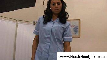 Sexy naughty nurse Sexy nurse getting hard on patient