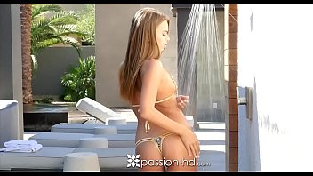 PASSION-HD After pool shower massage and fuck with Jill Kassidy