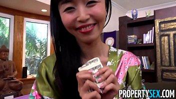 PropertySex - Hot Japanese tenant fucks her landlord