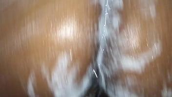 Ebony shower scene