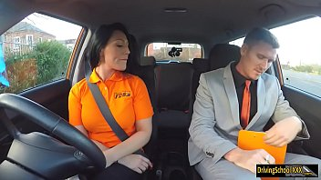 Big juggs examinee gets boned in the car