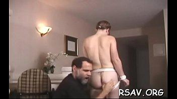 Hardcore bdsm spanking and thonging for immodest slut