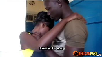 Asian bloejob African couple make soapy sex tape